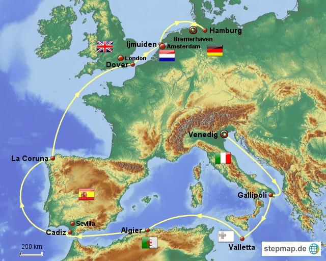 Mit der MS Albatros rund um West-Europa