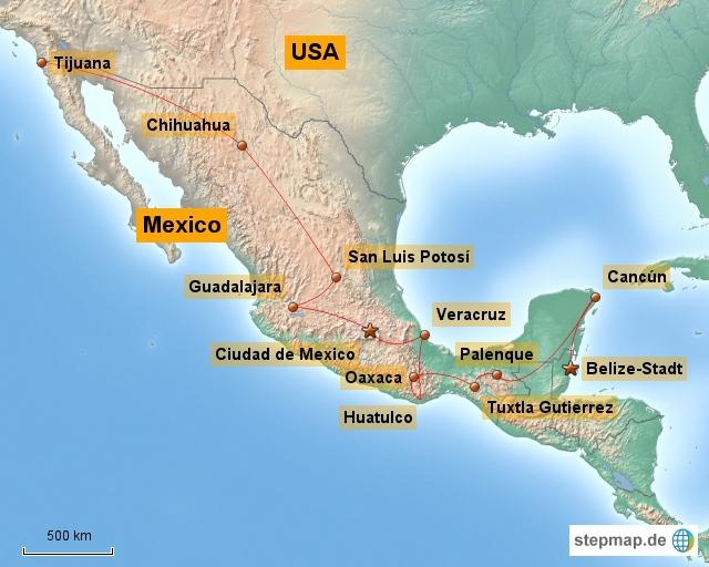 Routenabschnitt Mexiko