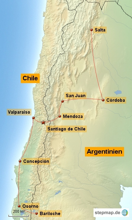 West-Chile/Nord-Argentinien