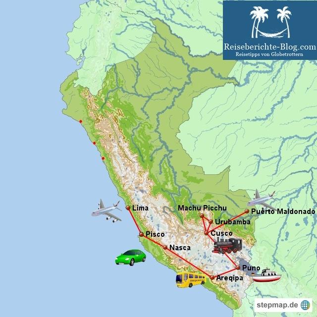 Peru, eine Rundreise von der Küste in die Anden und den Regenwald Perus