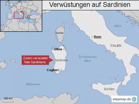 Verwüstungen auf Sardinien