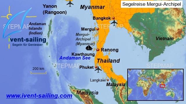Segelreise Myanmar