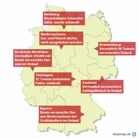 Dioxinvorfälle in Deutschland