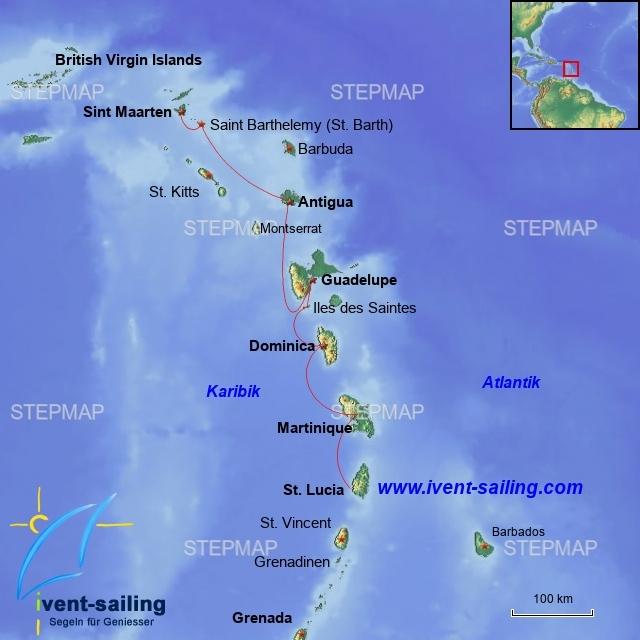 Segelreise Kleine Antillen