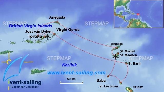 Segeln Britisch Virgin Islands und St. Maarten