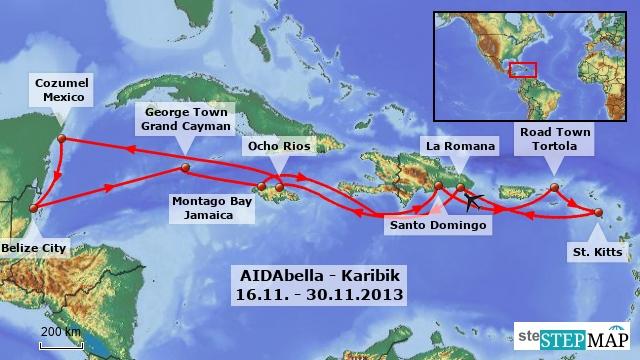 AIDAbella Karibik 2013