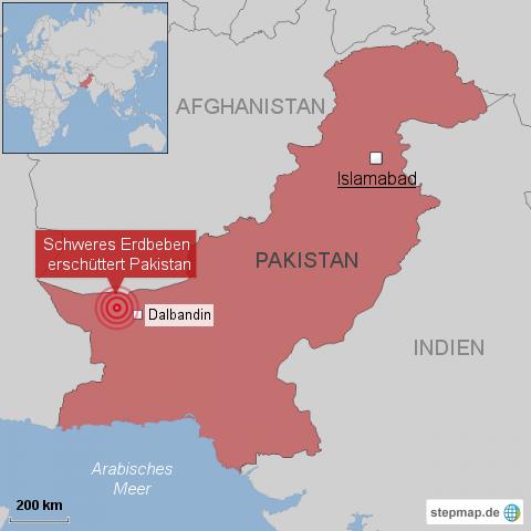 Erdbeben der Stärke 7,4 erschüttert Südwesten Pakistans