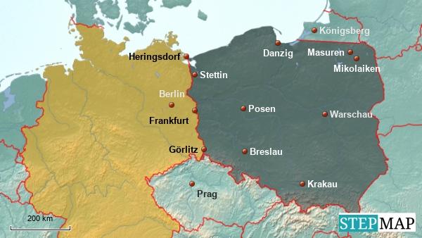 Polen ein Nachbar von Deutschland