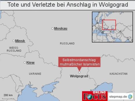 Tote und Verletzte bei Anschlag in Wolgograd