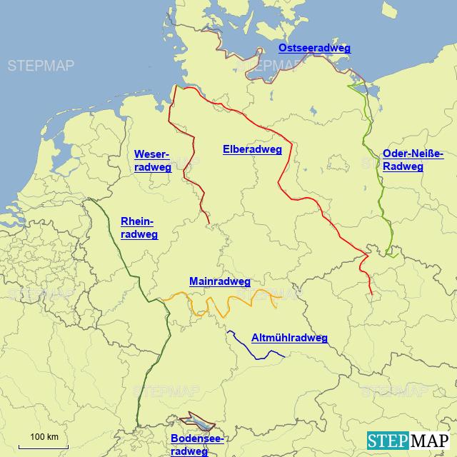 beliebte Radwege in Deutschland