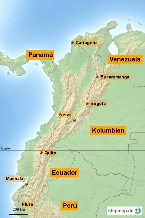 Über den Äquator