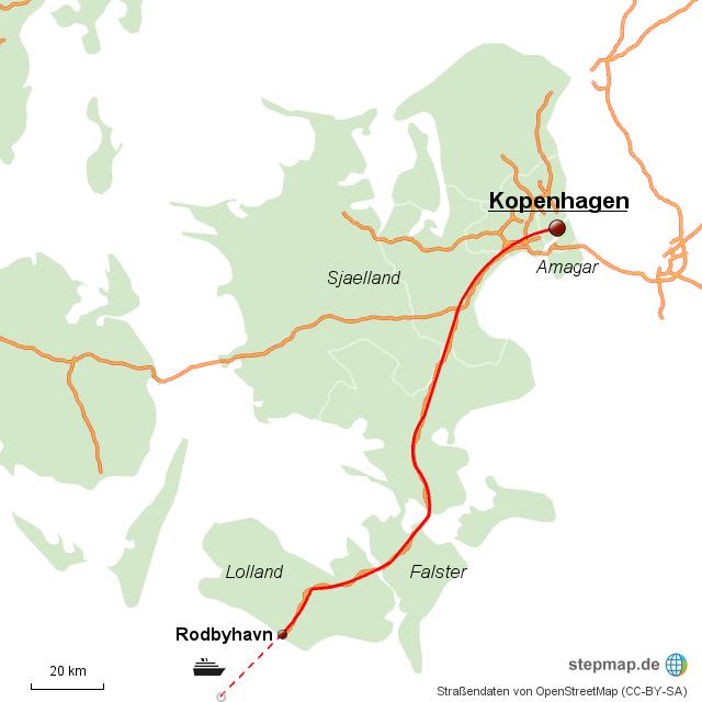 Vogelflugroute Dänemark