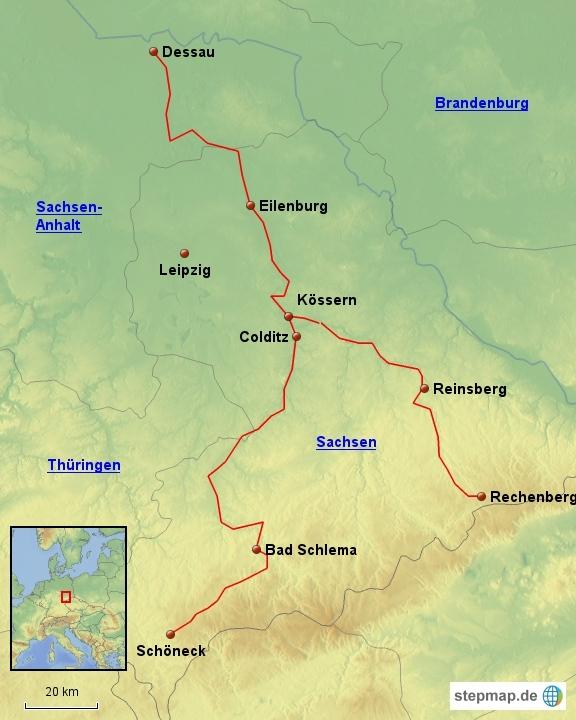 mulderadweg karte Mulderadweg | Fahrradtouren in Deutschland mulderadweg karte