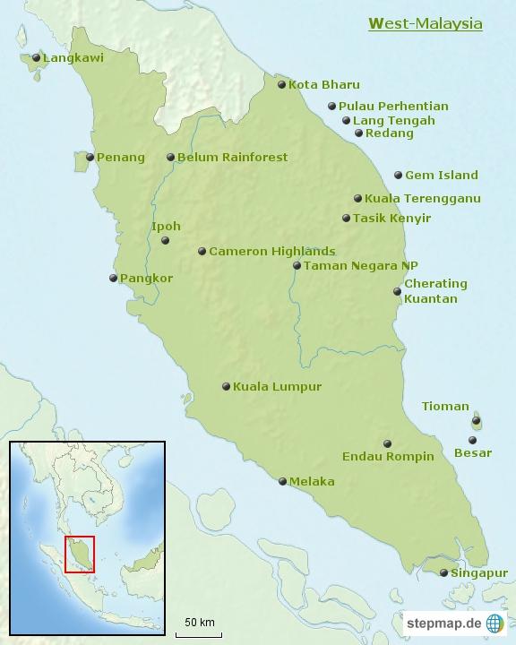 Malaysia: Bausteinübersicht West-Malaysia