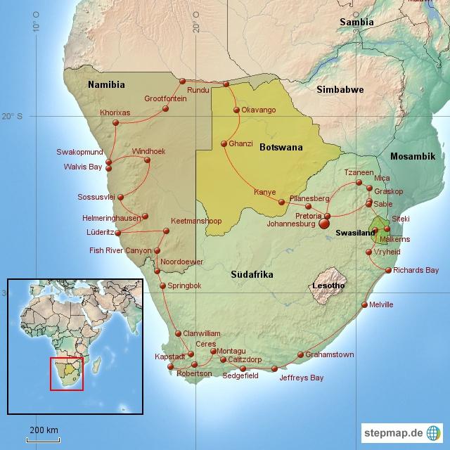 Südliches Afrika 2013