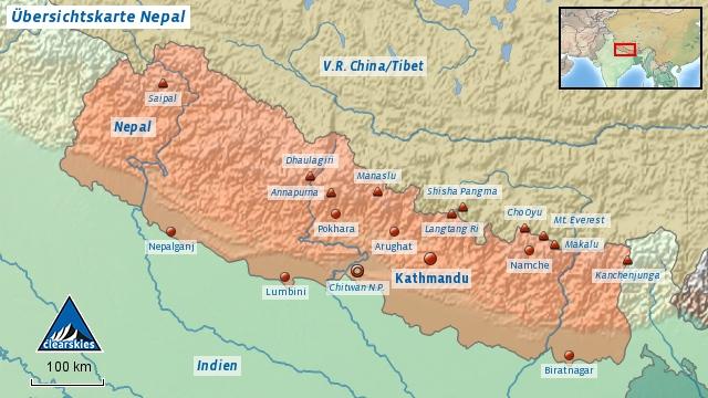 Nepal Übersicht fin