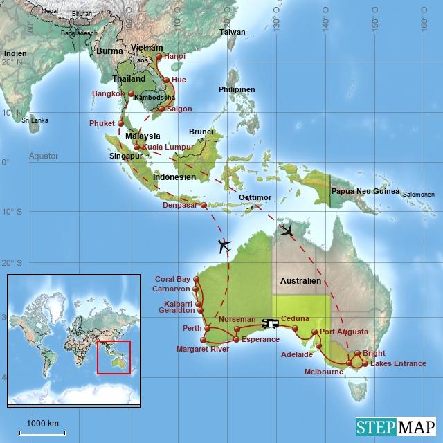 Südostasien / Australien 2011-2012