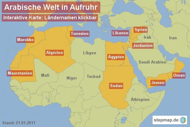 Arabische Welt in Aufruhr