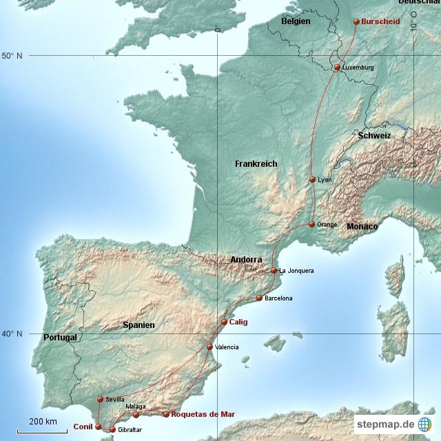 Spanien - Andalusien 2013-2014