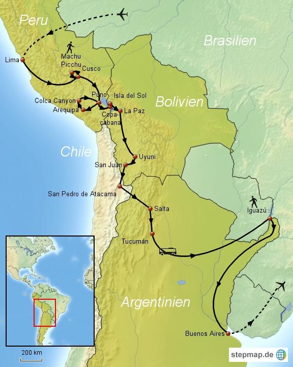 Peru-Bolivien-Argentinien