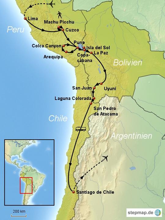 Peru-Bolivien-Chile