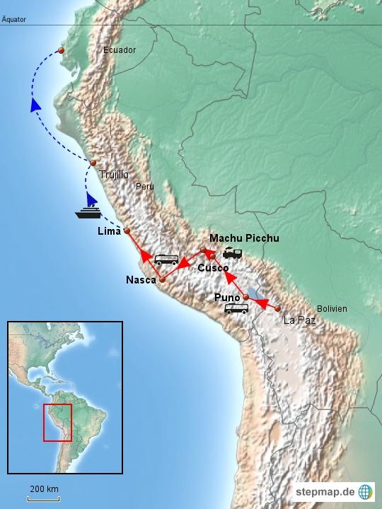 Mein Weg nach und durch Peru