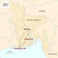 Routenkarte zur Reise Bootssafari durch die Sundarbans