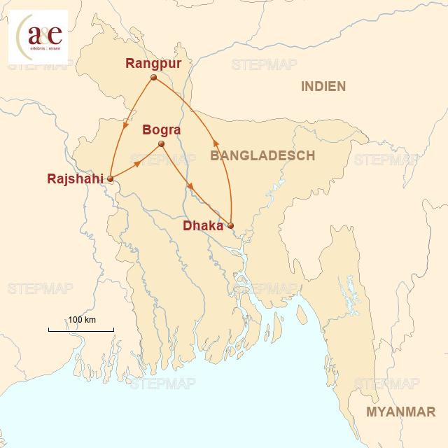 Routenkarte zur Reise Archäologische Entdeckertour