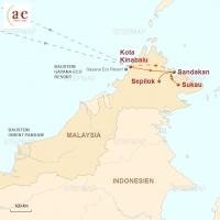 Routenkarte zur Reise Sabah, Land unter dem Wind