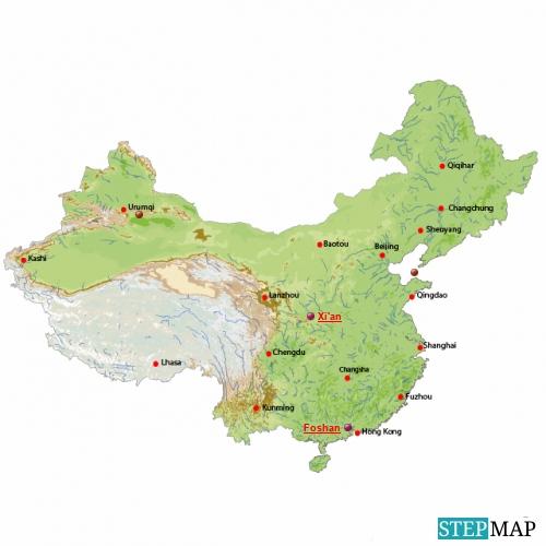 Landkarte von China