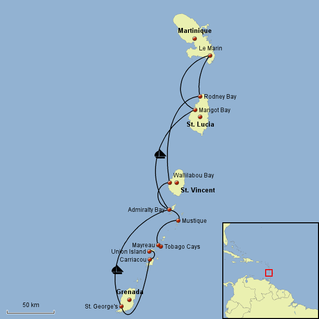 Segeln Karibik 2008