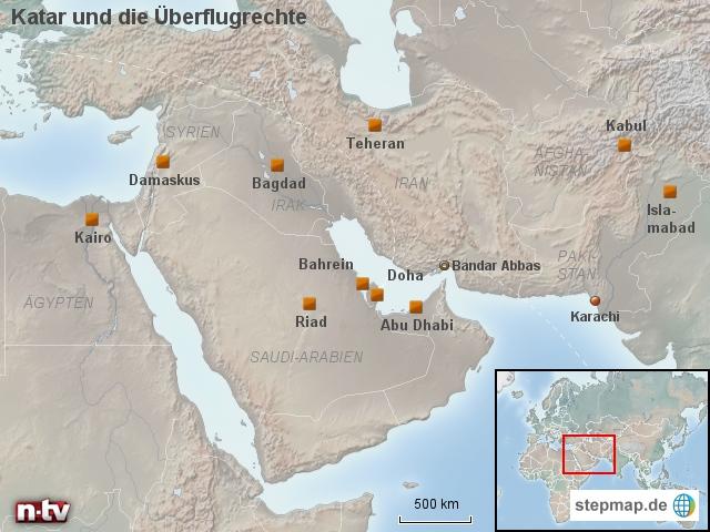 Katar und die Überflugrechte