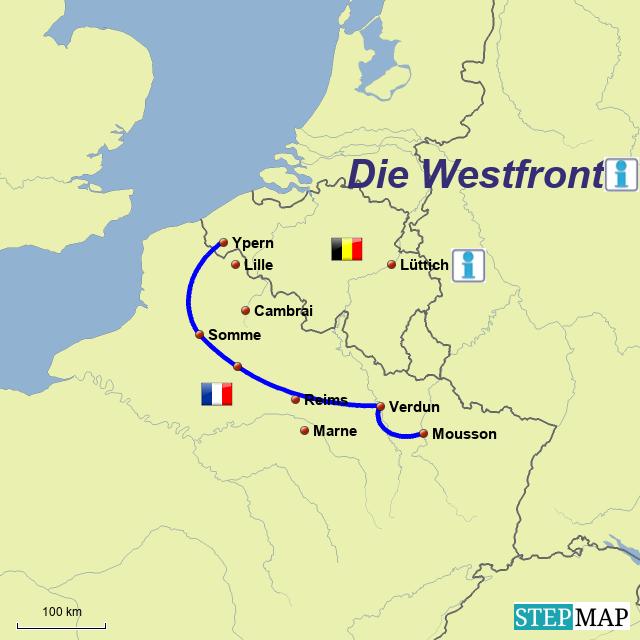 Gruppe 5 -  Karte 1 -  Die Westfront