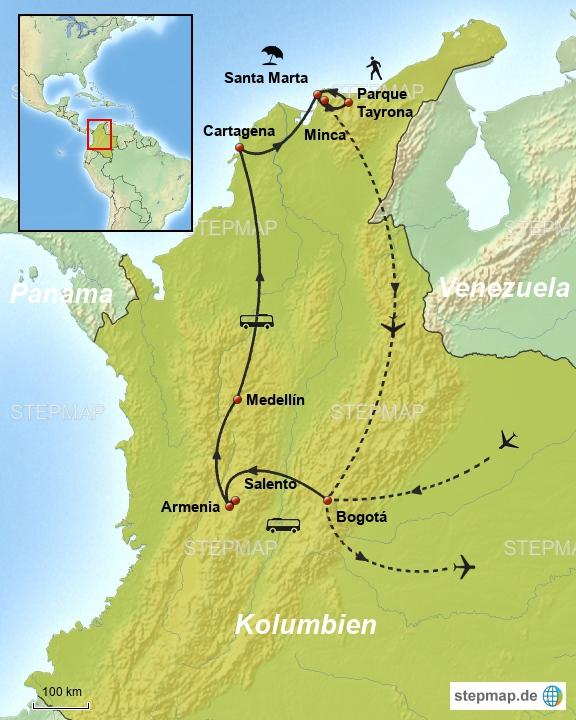 Linienbus Kolumbien neu
