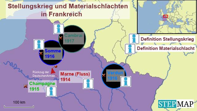 Gruppe 5 - Karte 3 - Stellungskrieg und Materialschlachten