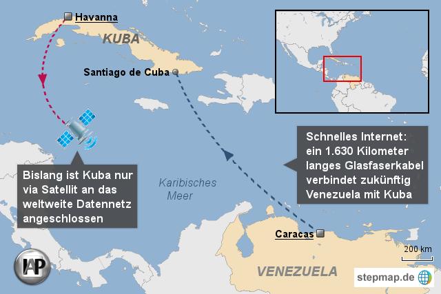 Kuba bekommt Internet per Glasfaser