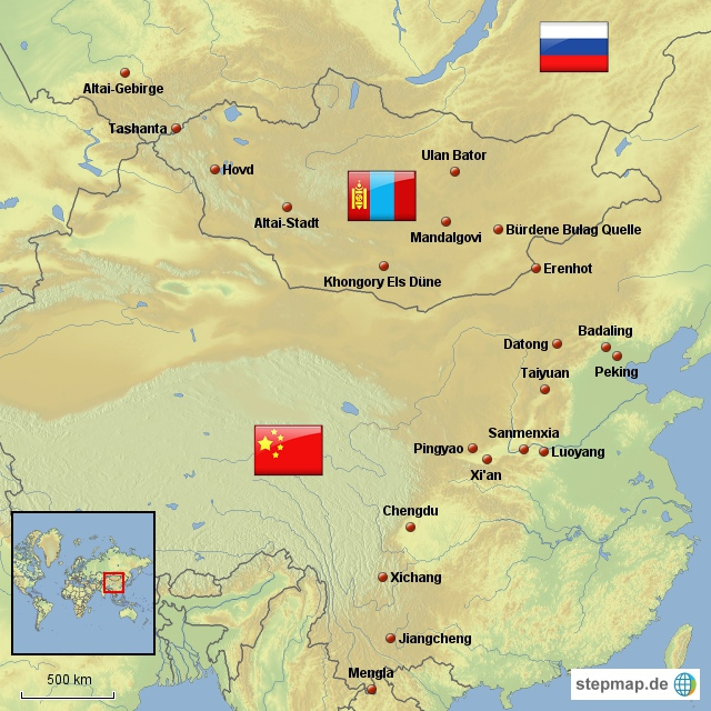 China Mongolei Sibirien