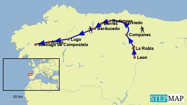 Camino del Salvador y Camino Primitivo