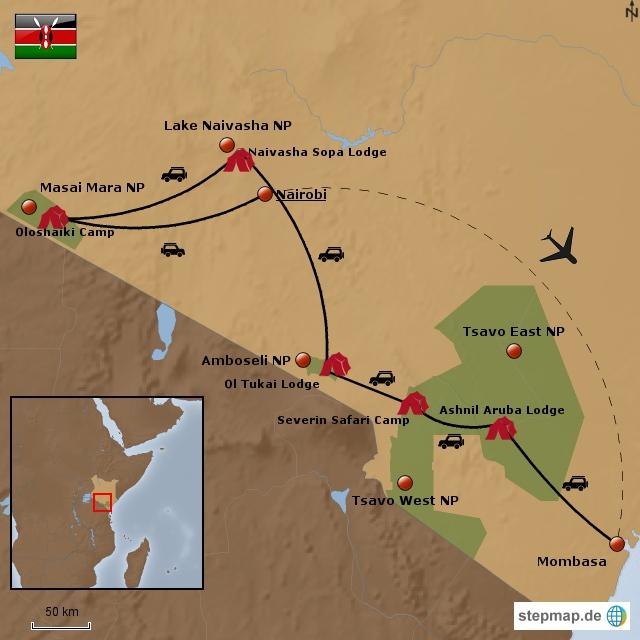 Große Kenia Comfort Road Safari