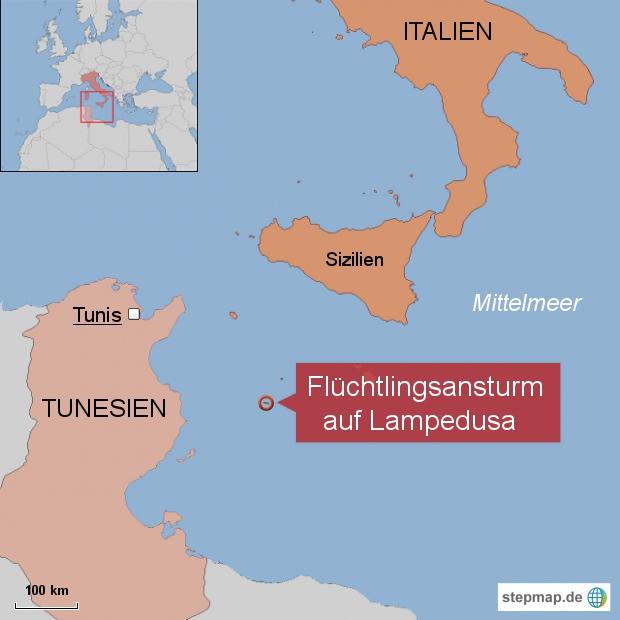Flüchtlingsansturm auf Lampedusa