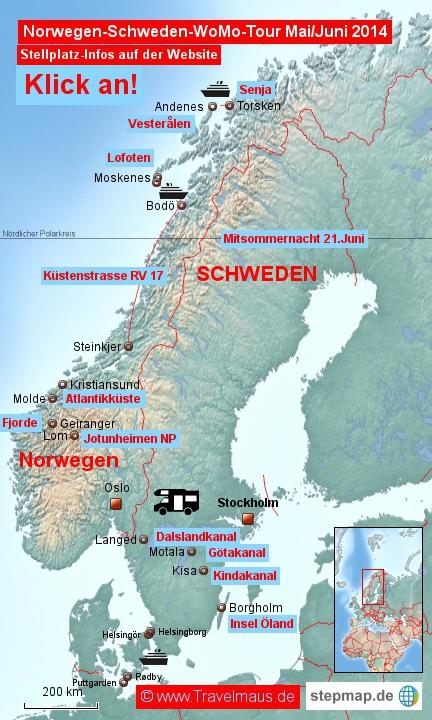 Norwegen-Schweden-Tour 2014