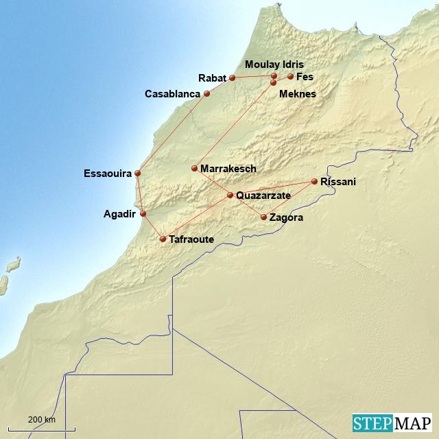 Kamele, Kasbahs und Kalifen