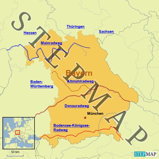 Radwege in Bayern