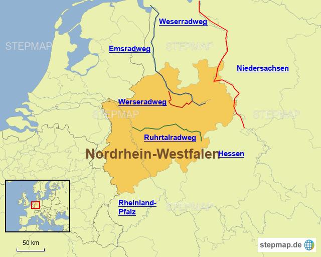 Radwege in Nordrhein-Westfalen
