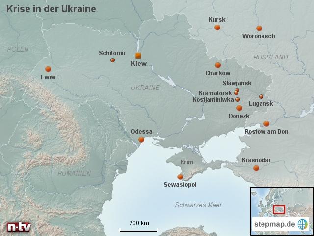 Krise in der Ukraine: Die Brennpunkte im Osten