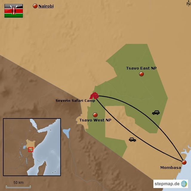Severin Tsavo Road Safari