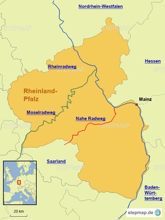Radwege in Rheinland-Pfalz