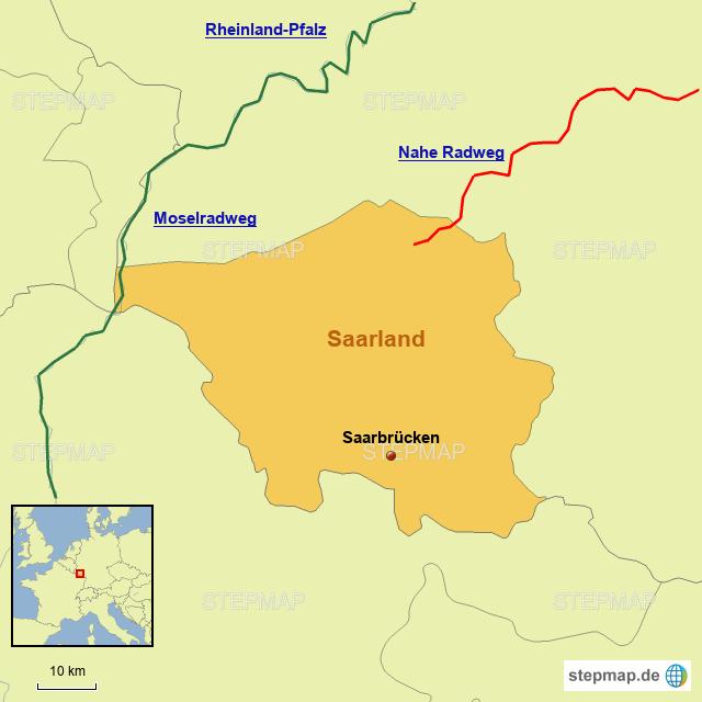 Radwege im Saarland