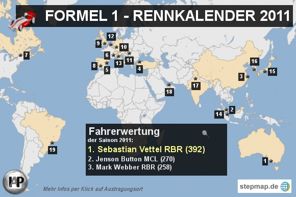 Formel 1 - Rennkalender 2011