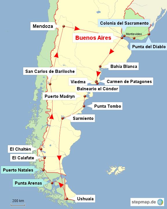 Argentinien - Chile - Uruguay